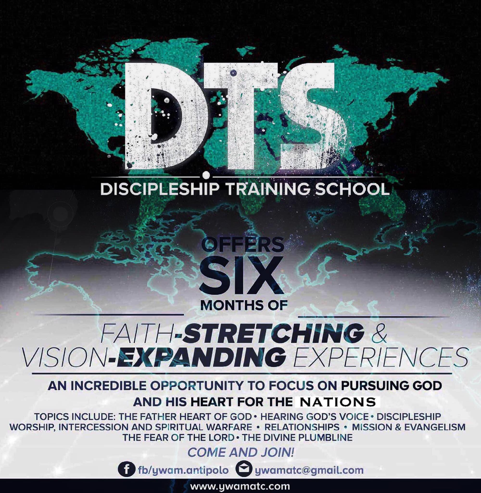 Upcoming Discipleship Training Schools (DTS) and Second-Level Schools in 2021